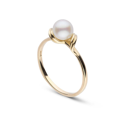"""Inspire"" Akoya Pearl Ring: 6.0-6.5mm"