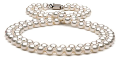 Double Strand Freshwater Pearl Necklace: 7.5-8.0mm