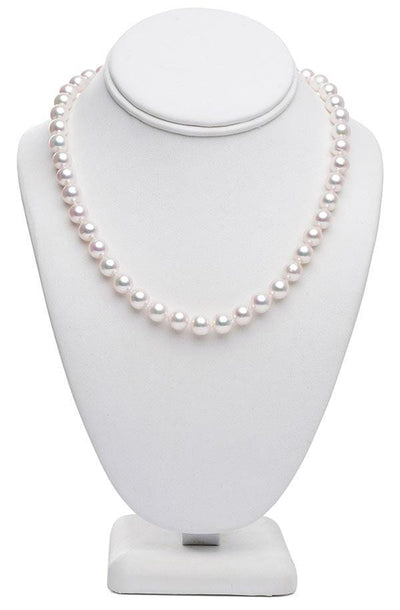 "18"" Baroque White Akoya Pearl Necklace: 8.5 - 9.0mm AA+"