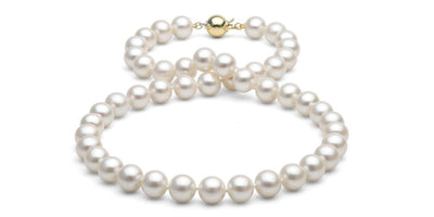 White Freshwater Pearl Necklace: 8.5-9.0mm