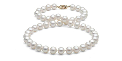 White Freshwater Pearl Necklace: 7.5-8.0mm