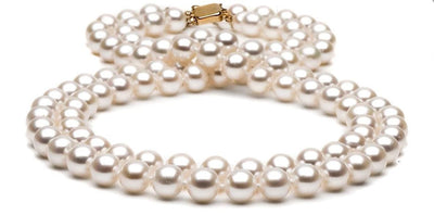 Double Strand Freshwater Pearl Necklace: 9.5-10.0mm