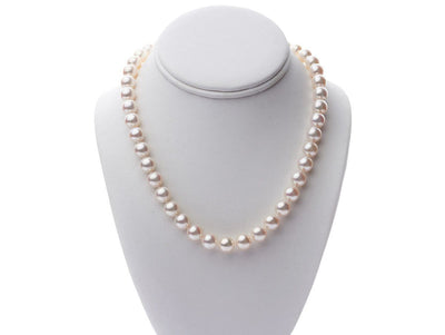 "18"" ""Top Range"" Hanadama Akoya Pearl Necklace: 9.5-10.0mm (*RARE*)"