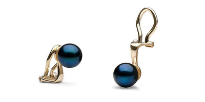 Black Akoya Clip-On Pearl Earrings: All Sizes