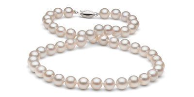 White Gem Grade Freshwater Pearl Necklace: 6.0-7.0mm