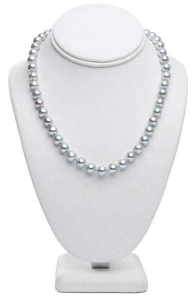 "18"" Baroque Blue Akoya Pearl Necklace: 8.5 - 9.0mm AA+"