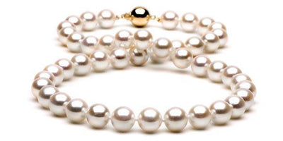 "18"" Akoya Pearl Necklace: 9.5-10.0mm - AAA"
