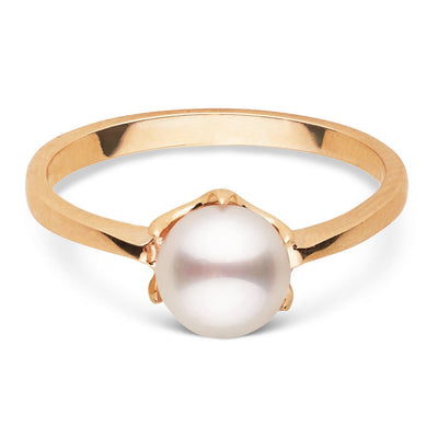 """Coronet"" Akoya Pearl Ring: 6.0-6.5mm"