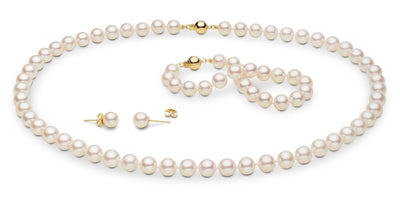 Akoya Pearl Jewelry Set: 7.0-7.5mm