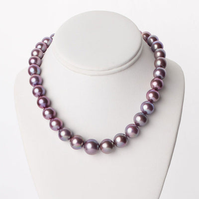 "18"" Metallic Freshwater Edison Pearl Necklace: 11.4-14.5mm"
