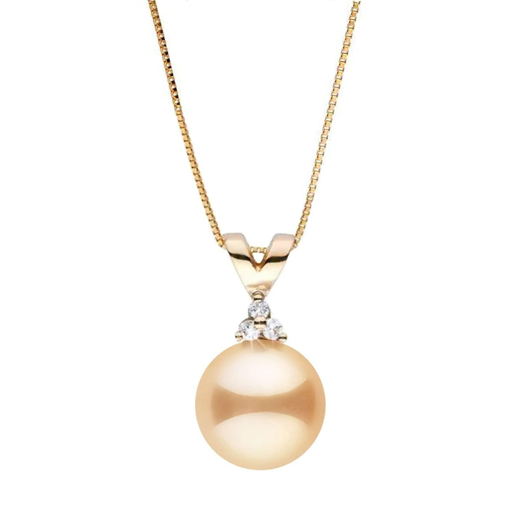 """Trinity"" Golden South Sea Pearl Pendant - AAA Grade"