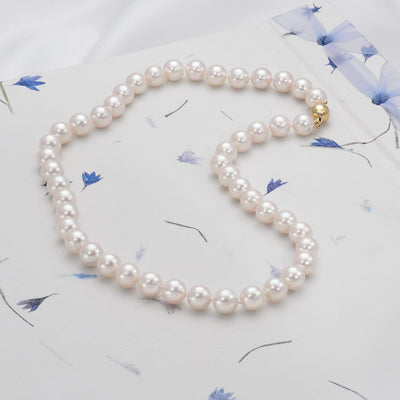 "18"" ""Top Range"" Hanadama Akoya Pearl Necklace: 8.5-9.0mm"