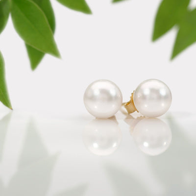 Akoya Pearl Earrings: 6.5-7.0mm