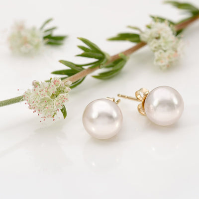 Akoya Pearl Earrings: 8.0-8.5mm