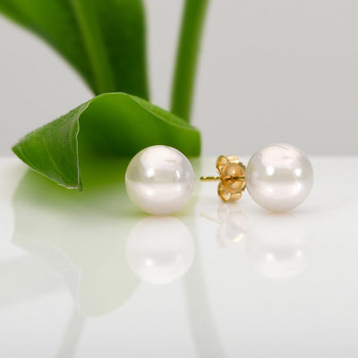 Akoya Pearl Earrings: 8.5-9.0mm