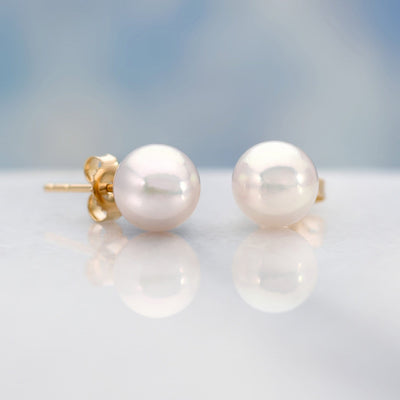 """Top Range"" Hanadama Akoya Pearl Earrings: 7.0-7.5mm"