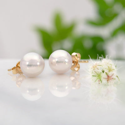 """Top Range"" Hanadama Akoya Pearl Earrings: 7.5-8.0mm"