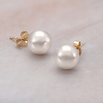 """Top Range"" Hanadama Akoya Pearl Earrings: 8.0-8.5mm"