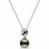 """Orbit"" Diamond Tahitian Pearl Pendant"