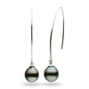 """Waterfall"" Drop-Shape Tahitian Pearl Dangle Earrings - AAA Grade"