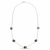 Circled Baroque Tahitian Pearl Tin Cup Necklace: 9-10mm