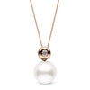 """Bezel"" White South Sea Diamond Pearl Pendant - AAA Grade"