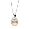 """Diamond Drop"" Golden South Pearl Pendant - AAA Grade"