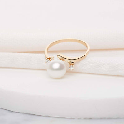 """Purity"" Freshwater Pearl Ring: 7.5-8.0mm"