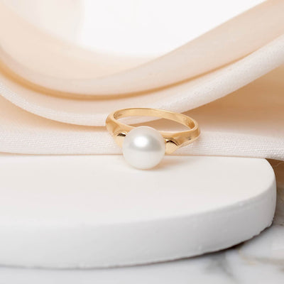 """Gentle Whisper"" Freshwater Pearl Ring: 8.5-9.0mm"
