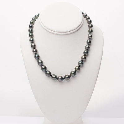 "18"" Drop Tahitian Pearl Necklace: 8.6-10.7mm AA+/AAA"
