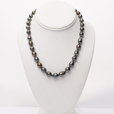 "18"" Baroque Tahitian Pearl Necklace: 8.5-10.6mm AA+/AAA"