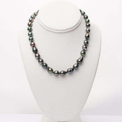 "18"" Baroque Tahitian Pearl Necklace: 7.8-10.9mm AA+/AAA"