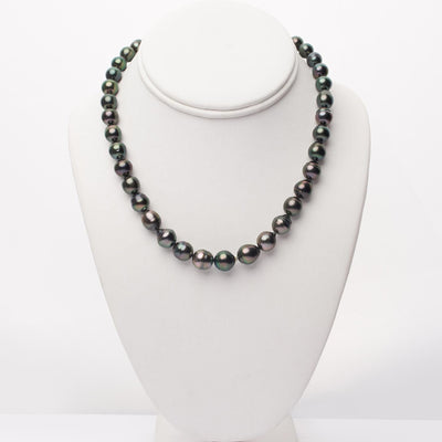 "18"" Baroque Tahitian Pearl Necklace: 8.2-10.7mm AA+"