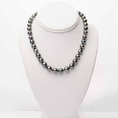 "18"" Baroque Tahitian Pearl Necklace: 8.4-10.9mm AA+"