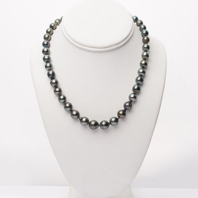 "18"" Baroque Tahitian Pearl Necklace: 8.1-10.7mm AA+/AAA"