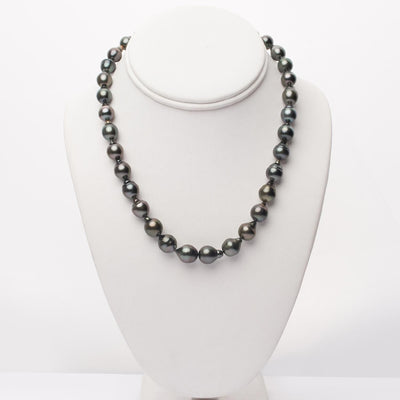 "18"" Baroque Tahitian Pearl Necklace: 8.3-10.8mm AA+"