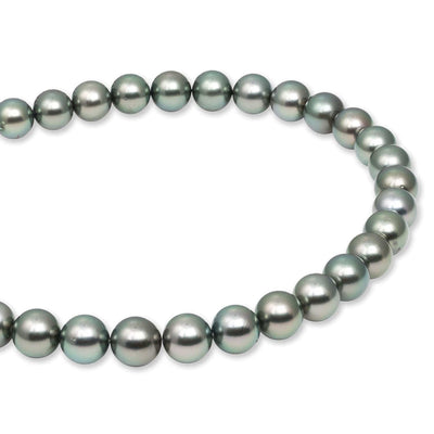 "18"" Round Tahitian Pearl Necklace: 9.0-10.9mm AA+/AAA"