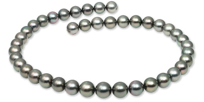 "18"" Round Tahitian Pearl Necklace: 10.1-11.9mm AAA"
