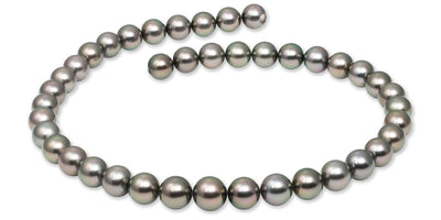 "18"" Round Tahitian Pearl Necklace: 10.0-11.8mm AAA"