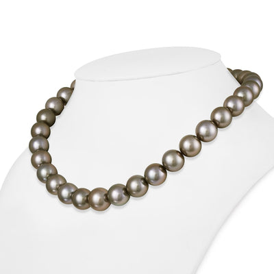 "18"" Round Tahitian Pearl Necklace: 11.0-12.8mm AAA"