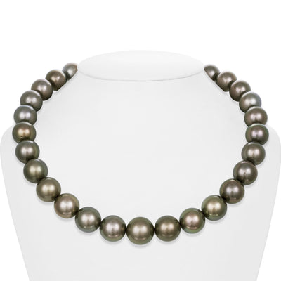 "18"" Round Tahitian Pearl Necklace: 15.0-17.0mm AA+"