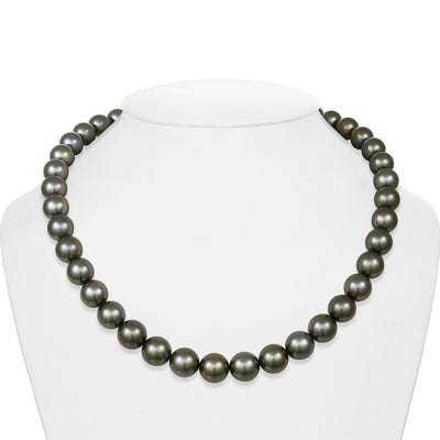 "18"" Round Tahitian Pearl Necklace: 10.0-11.9mm AAA/GEM"