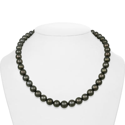 "18"" Round Tahitian Pearl Necklace: 8.0-10.7mm AAA"