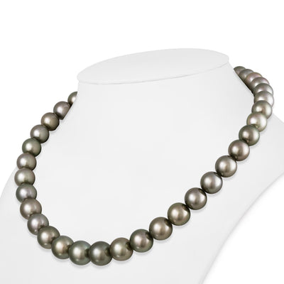 "18"" Round Tahitian Pearl Necklace: 10.0-12.6mm AAA"