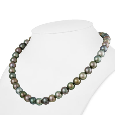 "18"" Round Tahitian Pearl Necklace: 9.0-9.8mm AAA"
