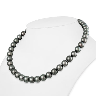 "18"" Round Tahitian Pearl Necklace: 9.0-11.5mm AA+/AAA"
