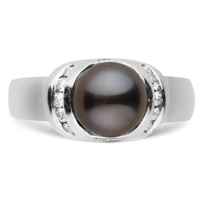 """Forte"" Tahitian Pearl Ring: 7.0-8.0mm"