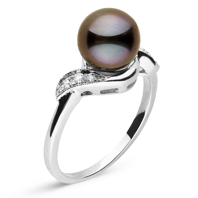 """Parallel Love"" Tahitian Pearl Ring: 8.0-9.0mm"