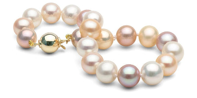 Multi-Color Freshwater Pearl Bracelet: 8.5-9.0mm