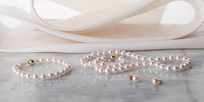 Akoya Pearl Jewelry Set: 7.5-8.0mm